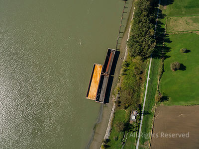 Barge on The Fraser River