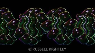 B-DNA ripple edge animation on black