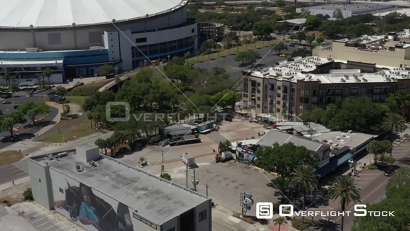 Aerial Footage St. Petersburg Florida Tropicana Field Covid 19 Empty Fergs