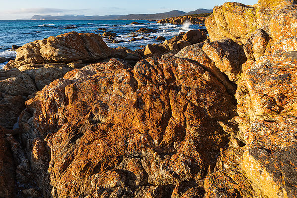 Granite Rocks at Friendly Beaches looking towards the Freycinet Peninsula