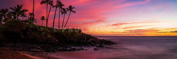 Maui Hawaii Ulua Beach Wailea Sunrise Panorama Photo