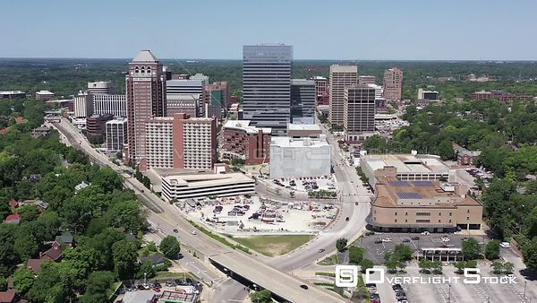 Dowtown Clayton Missouri Drone View