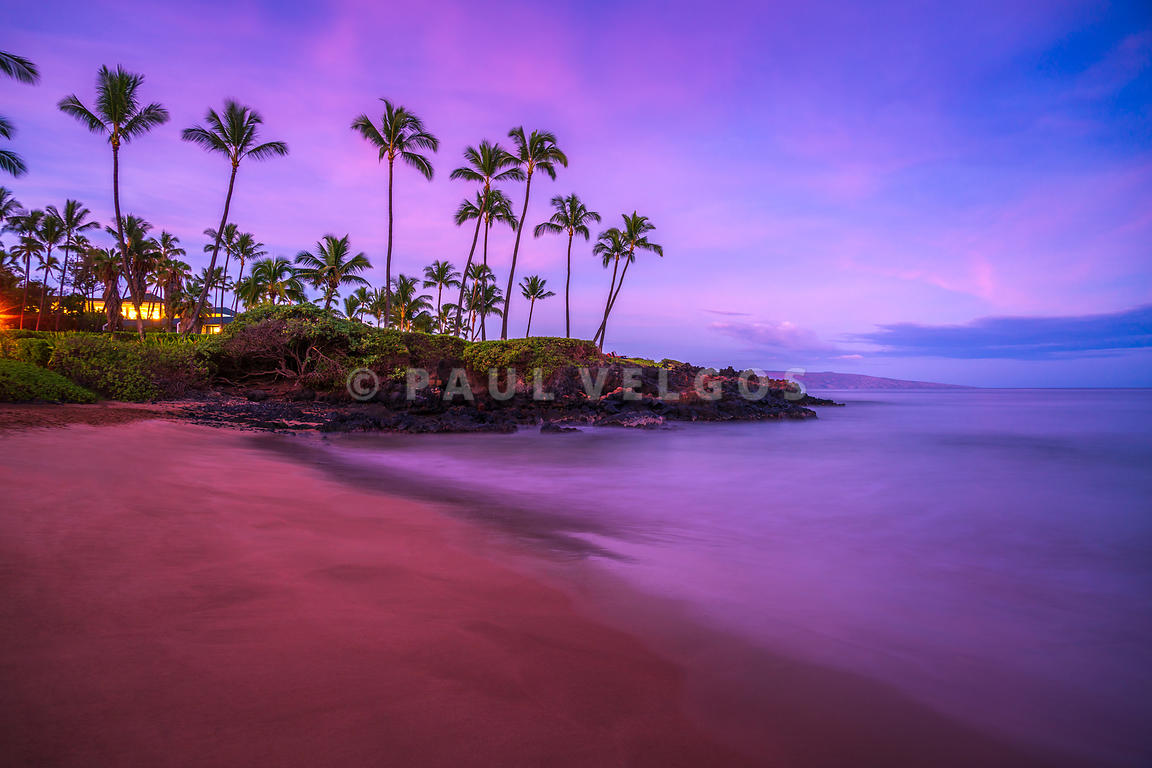 Maui Hawaii Ulua Beach Morning Sunrise Photo