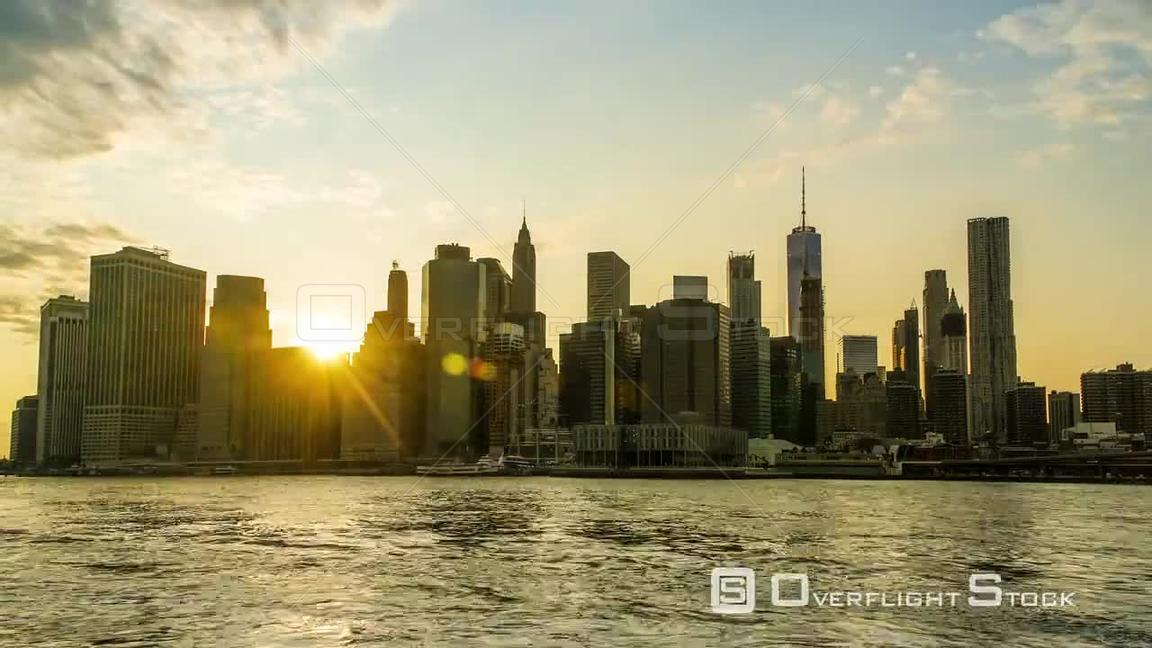 Day to Night Sunset Timelapse of the New York City Skyline