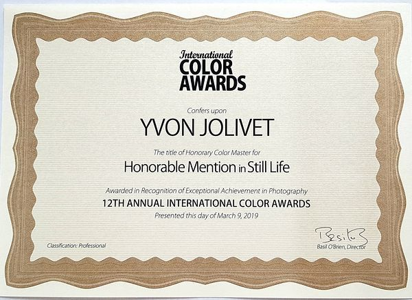 International Color Awards - Mention honorifique