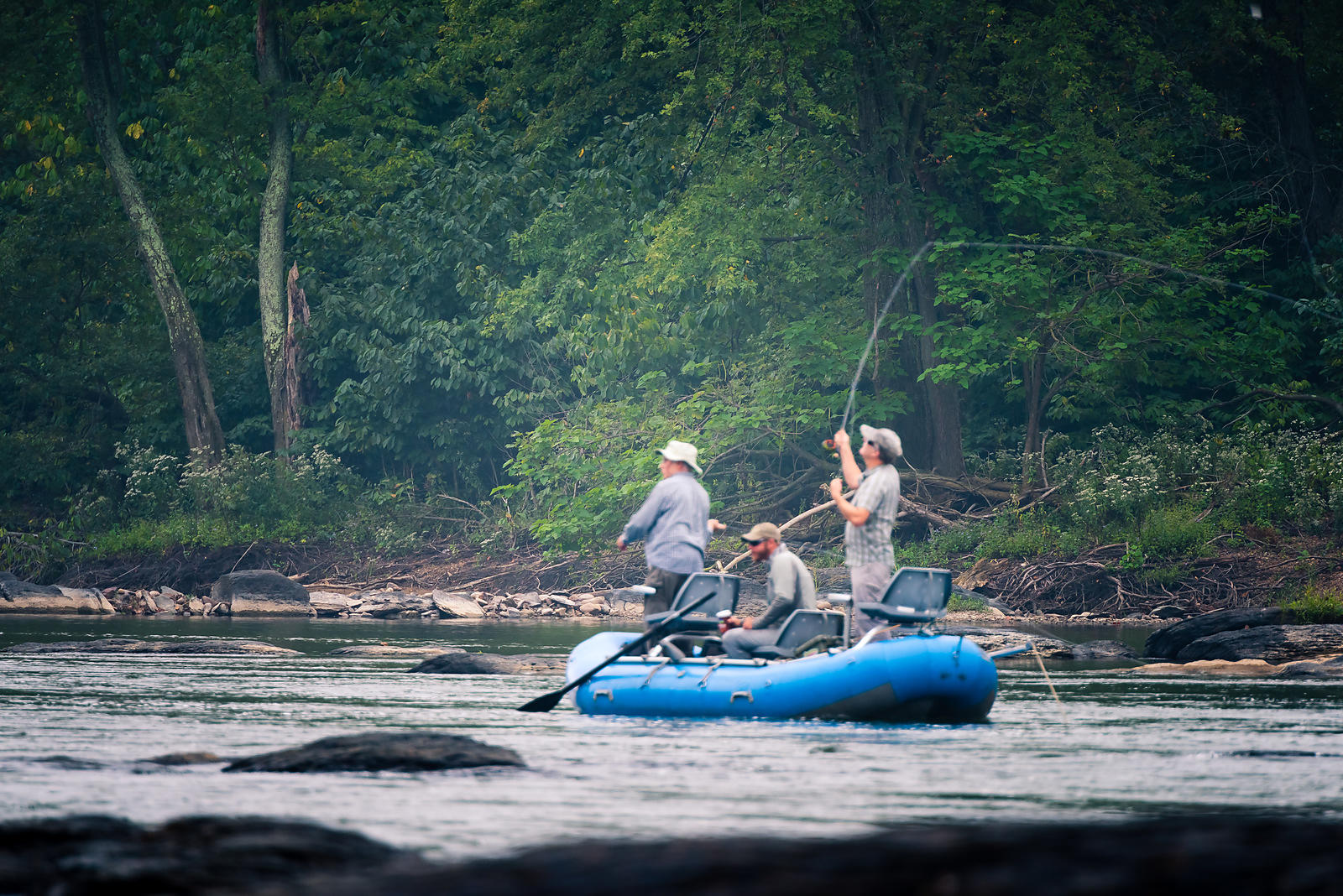 Fly fishing on the Potomac as the fog lifts #washingtoncounty #outdoors #flyfishing #rafting #potomacriver #harpersferry #gre...