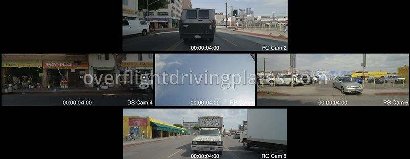 East 8th Street  Los Angeles California USA - Driving Plate Preview 2012