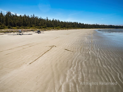 Aircraft on the Beach of Vargas Island Tofino Area Vancouver Island BC