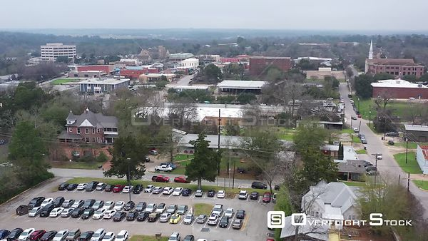 Downtown Overview and the State Penitentiary, Huntsville, Texas, USA