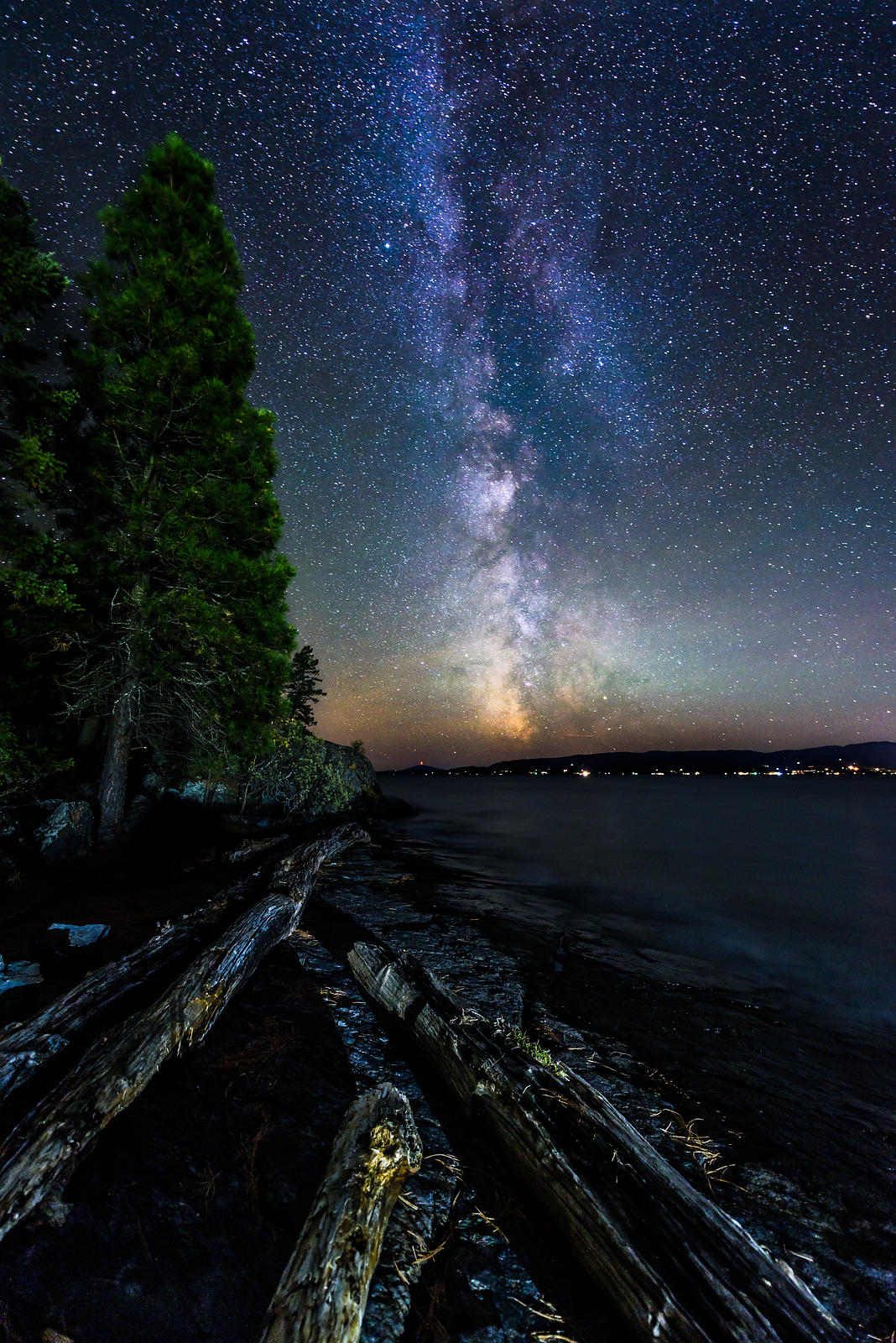 Flathead Lake Montana Milky Way