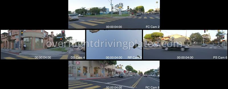 Residential Sunset  Santa Monica California USA - Driving Plate Preview 2012