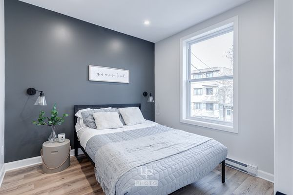 Cute renovated bedroom in a condo