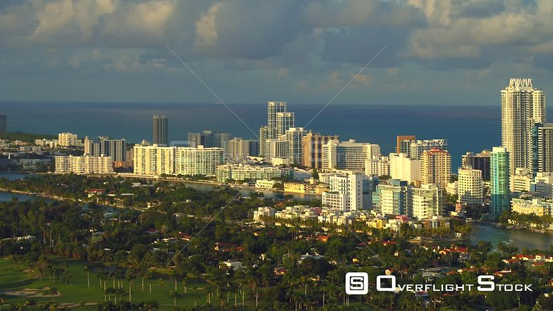 Aerial video Allison Island Miami Beach Indian Creek view