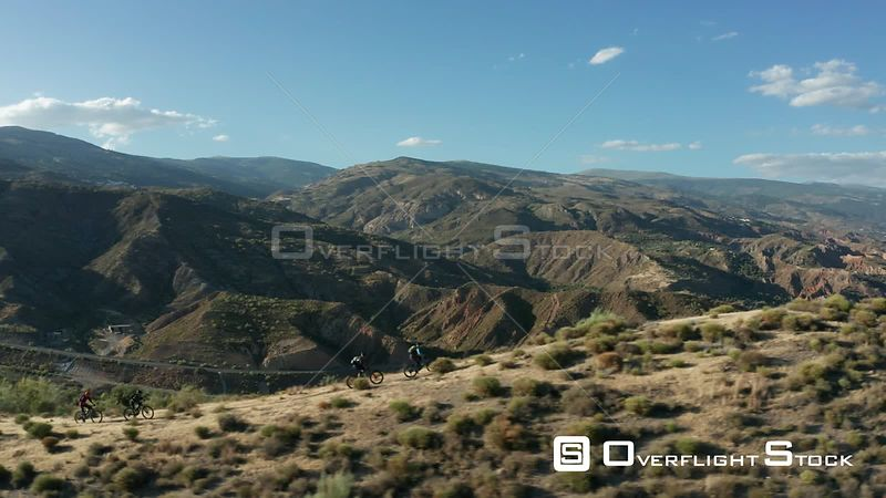 Mountain Bikers in the Seirra Nevada, Spain