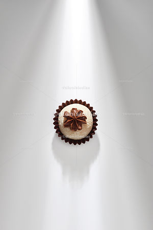 Gourmet Brigadeiro Milk nest flavor isolated on white background