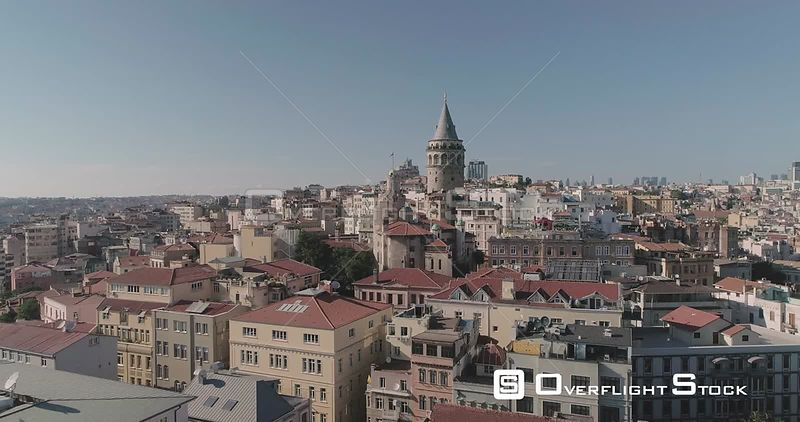 Aerial View of Galata Tower Turkey