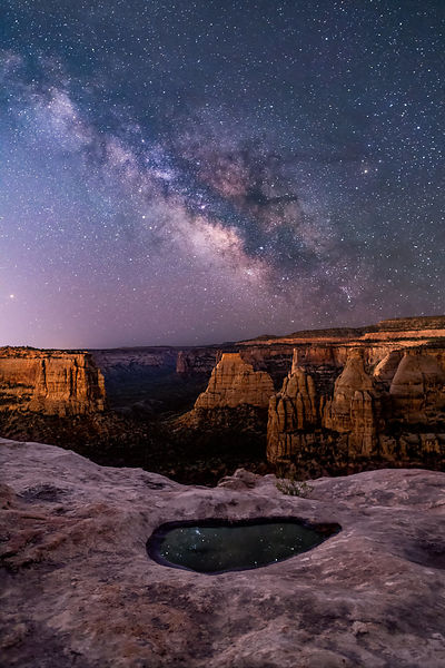 033 - Milky Way Rising, Monument Canyon