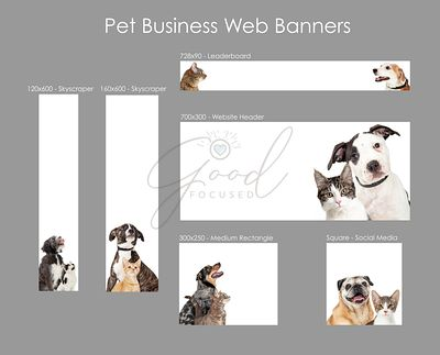Pet Business Web Ad Template Collection