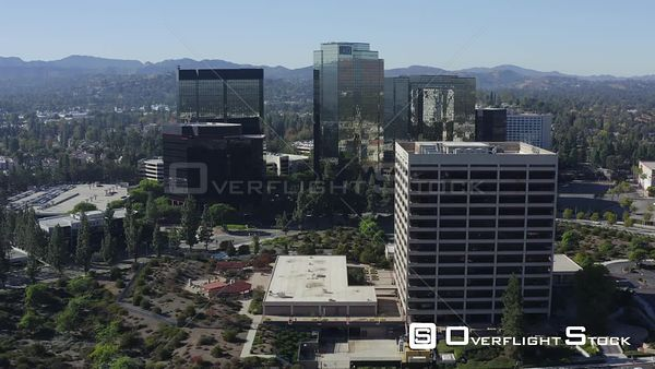 Warner Center Woodland Hills Los Angeles California Drone Aerial View