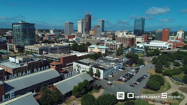 River Market Downtown Little Rock Arkansas Drone Aerial View