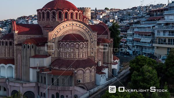 Drone Video Saint Paul Agios Pavlos Church Thessaloniki Greece