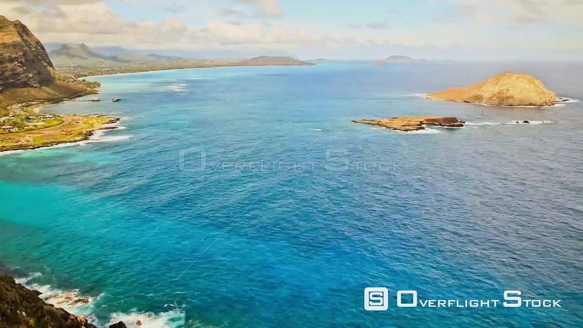 Beautiful ocean bay time lapse clip in Oahu. Hawaii