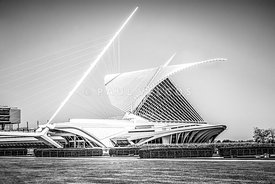 Milwaukee Art Museum Picture in Black and White