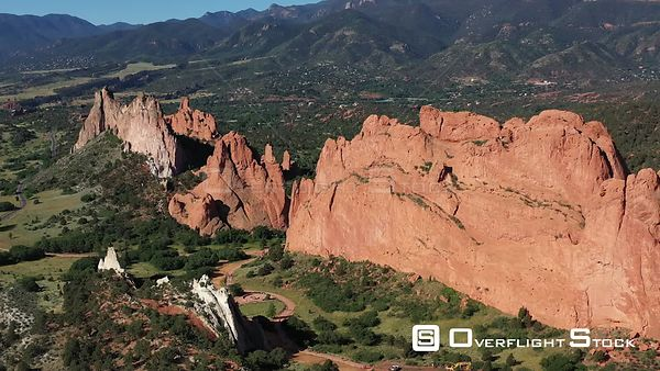 Hogbacks and other rock formations, Garden of the Gods, Colorado Springs, Colorado, USA