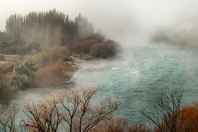 Foggy morning on the Clutha River near Wanaka.