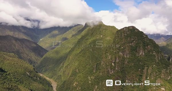 Route to Machu Picchu in the Andes Mountains near Aguas Clientes Peru