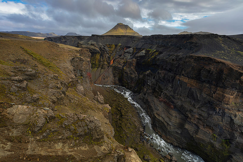 River Gorge in Iceland Fjallabak Highlands