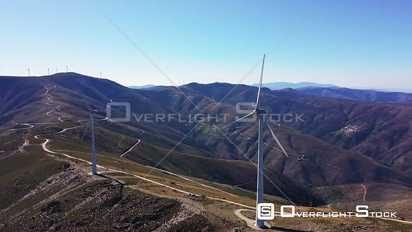 Windmill farm at São Pedro do Açor Mountain