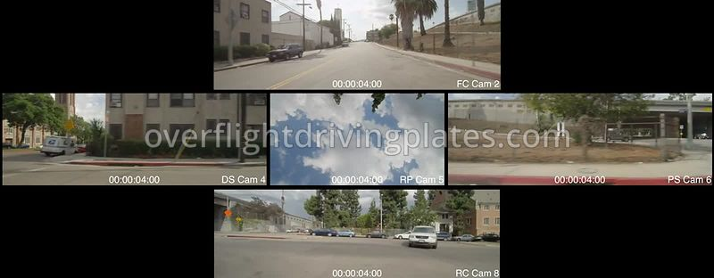 Yucca Sreet  Los Angeles California USA - Driving Plate Preview 2012