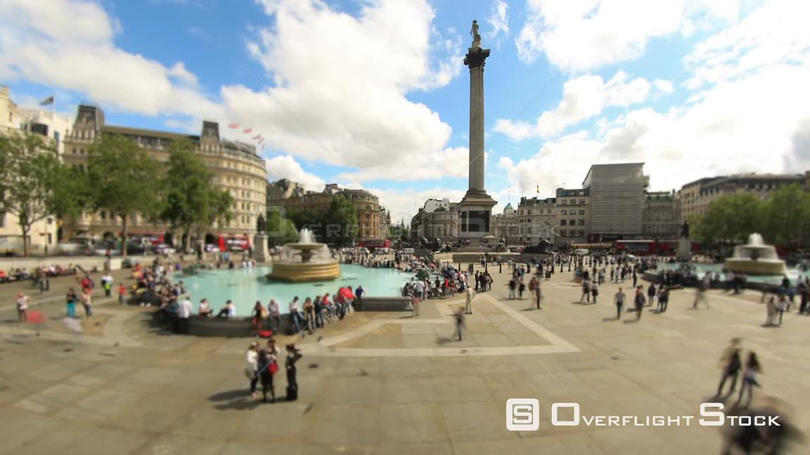 City pedestrian crowds time lapse clip in London England