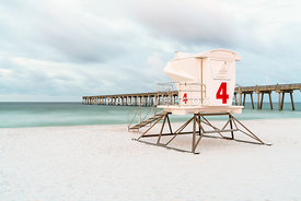 Pensacola Beach Pier and Lifeguard Tower 4 Photo