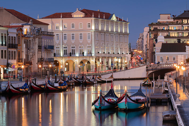 "Canal in the Center of Aveiro (the ""Venice"" of Portugal)"
