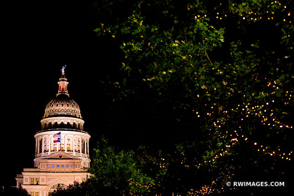 STATE CAPITOL BUILDING AUSTIN TEXAS NIGHT