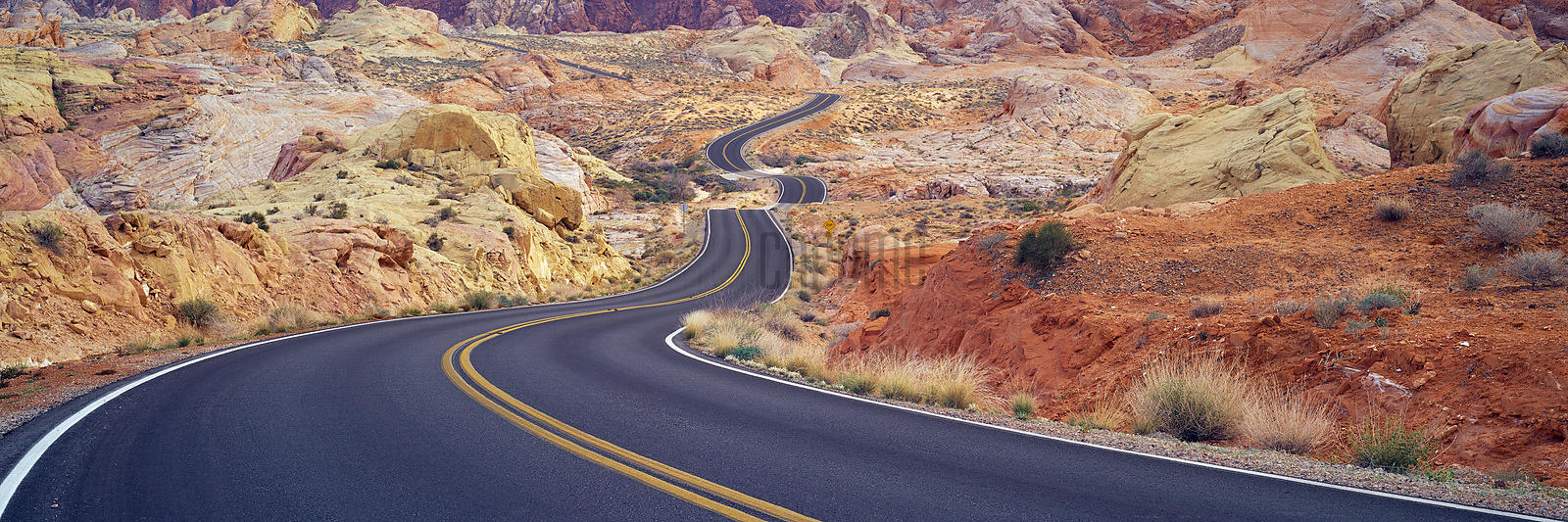Road through Red Rock Canyon