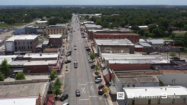 Old buildings in downtown, small town, Navasota, Texas, USA
