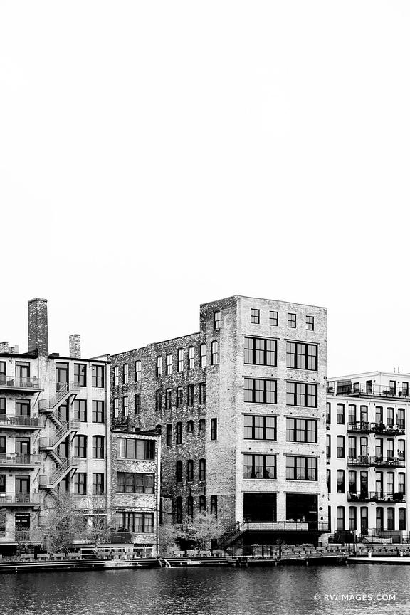 HISTORIC THIRD WARD MILWAUKEE WISCONSIN BLACK AND WHITE VERTICAL