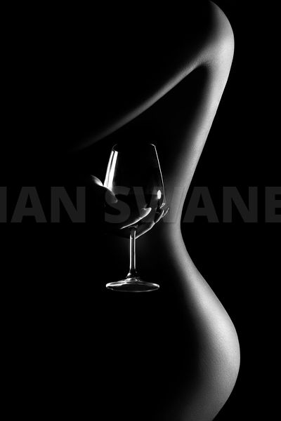 Nude woman red wine 3