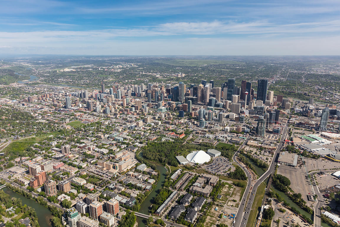 South end of downtown Calgary