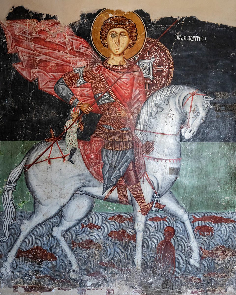 Fresco in Archangelos Michail Church