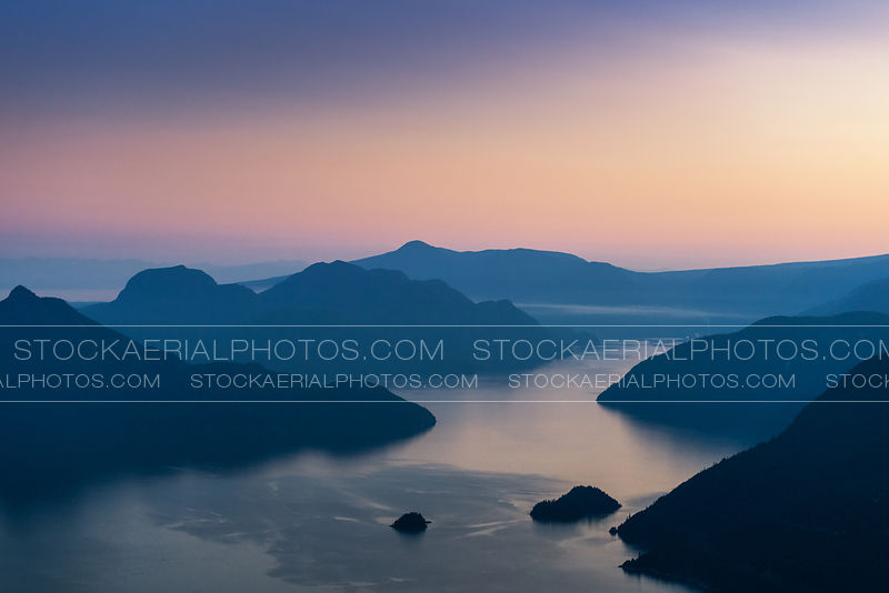 Howe Sound at Sunset