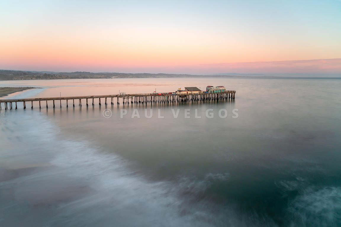 Capitola Wharf Pier at Sunset Photo