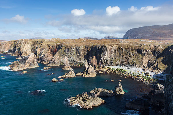 View of Mangersta Cliffs on Isle of Harris