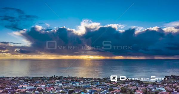 Time Lapse of Evening Clouds over Pacific Ocean Rancho Palos Verdes Coastline California
