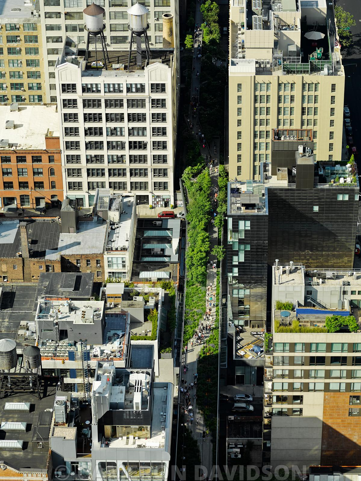 Aerial New York City The Highline