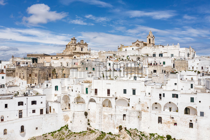Aerial View of the Old Town of Ostuni