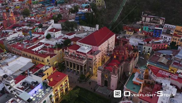 Historical City of Guanajuato Mexico Drone Aerial View
